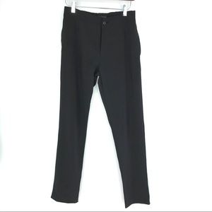 Zara Men Pants Slim Trouser Black Flat Front